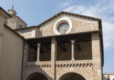 Loggia of Episcopal Palace, Rieti Stock Photography