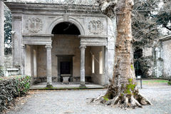 Loggia In Gardens Of Villa Lante Stock Photo