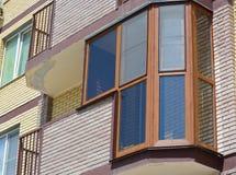 Loggia glazing. Glazing loggia with pvc windows Stock Photo