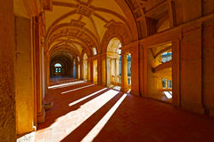 Loggia. Interior of the Templar Castle in the Portugal City of Tomar Stock Photography