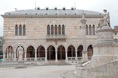 Loggia Lionello zamiast wolności, Udine, Włochy obraz royalty free