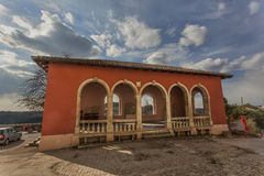 Loggia in  Oprtalj, Croatia Stock Photo