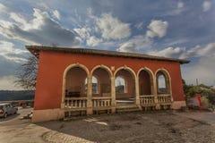 Loggia in Oprtalj, Kroatien Stockfoto