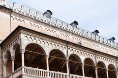 Loggia of palazzo della ragione in Padua city Stock Photos
