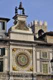 Loggia square wall clock, brescia Royalty Free Stock Photo