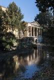 Loggian Valmarana, inkluderade efter 1994 med de andra Palladian monumenten p? UNESCOlistan av v?rldsarv - Vicenza arkivfoto