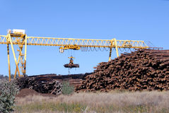 Logging Crane. Transporting Cut Logs Royalty Free Stock Photo