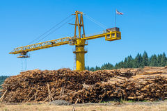 Logging Crane Royalty Free Stock Photography