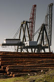 Logging cranes. Stock Images