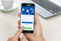 Logging into Facebook Application royalty free stock image