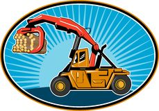 Logging forklift truck Royalty Free Stock Images