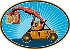 Logging forklift truck Royalty Free Stock Images
