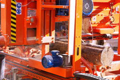 Logging industry - timber making equipment Royalty Free Stock Photography