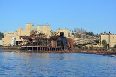 Logging in port alberni. Logging mill in Port Albeeni stock photography