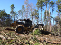 Logging Skidder Royalty Free Stock Images