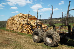 Logging or Timber Industry Resources Royalty Free Stock Photography
