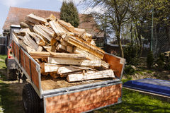 Logging tractor Royalty Free Stock Image