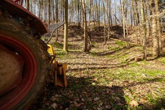 Logging tractor with winch Royalty Free Stock Image