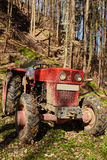 Logging tractor with winch Royalty Free Stock Images