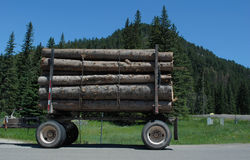 Logging Trailer Stock Photography