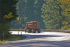 Logging Truck full haul Royalty Free Stock Photos