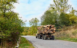 Logging truck timber lorry Stock Images