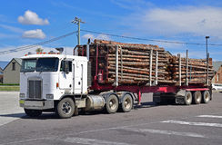 Logging Truck used for timber transport on normal highways and roads Royalty Free Stock Image