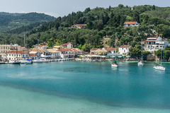 Loggos Bay on the Island of Paxos Royalty Free Stock Photos