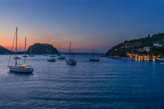 Loggos Bay on the Island of Paxos Royalty Free Stock Photography