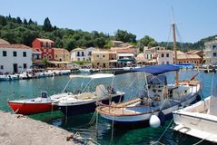 Loggos harbour, Paxos Royalty Free Stock Images