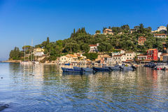 Loggos on the island of Paxos Stock Images