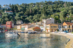 Lakka on the island of Paxos Royalty Free Stock Images