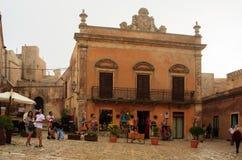 Logia del della de la plaza, Erice Imágenes de archivo libres de regalías
