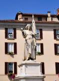 Estatua en la logia del della de la plaza, Brescia Fotos de archivo libres de regalías