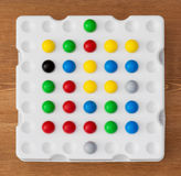 Logic board game with balls Royalty Free Stock Images