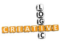 Logic Creative Crossword stock illustration