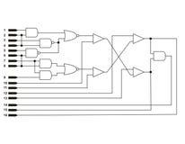 Logic diagram Royalty Free Stock Photos
