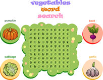 Logic Game For Learning English. Find The Hidden Words By Vertical Or Horizontal Lines Stock Photos