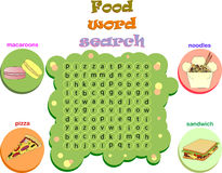 Logic game for learning English. Find the hidden words  Stock Photography
