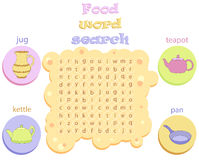 Logic game for learning English. Find the hidden words by vertic Stock Images
