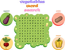 Logic game for learning English. Find the hidden words by vertic Royalty Free Stock Images
