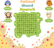 Logic game for learning English. Find the hidden words by vertic Stock Photography