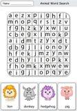 Logic game for learning English Stock Image