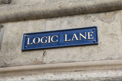 Logic Lane in Oxford Royalty Free Stock Photo