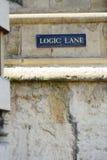Logic Lane signpost Royalty Free Stock Images