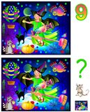 Logic puzzle game for children and adults. Need to find 9 differences. Vector cartoon image. Scale to any size without loss of resolution Stock Images