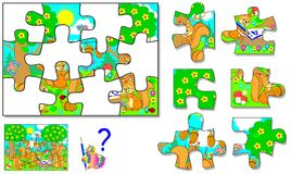 Free Logic Puzzle Game For Children And Adults. Need To Find The Correct Place For Each Detail. Stock Photos - 118501263