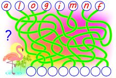 Logic puzzle game for study English. Need to find the correct places for the letters and write them in relevant circles. Vector cartoon image. Scale to any size Stock Photos