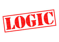 LOGIC. Red Rubber Stamp over a white background Stock Images