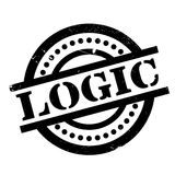 Logic rubber stamp Royalty Free Stock Images